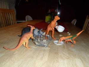 Dinosaurierna har théparty