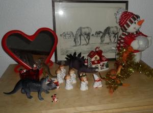 Lussetåg med dinosaurier