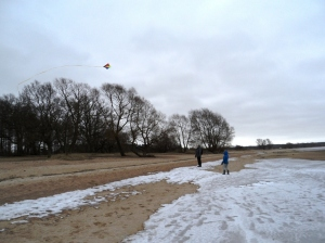 Flyga drake om vintern