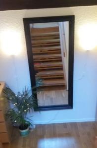 Det är iallafall bättre än förut. Nästa projekt: måla trappan, tapetsera om, dölja sladdarna... äh, vad jobbigt det blev. Vi har iallafall belysning i vår sjuttiotalshall.